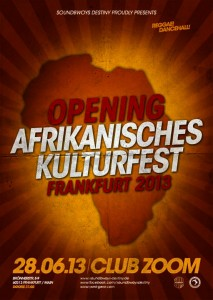 Opening Afrikanisches Kulturfest FFM 2013